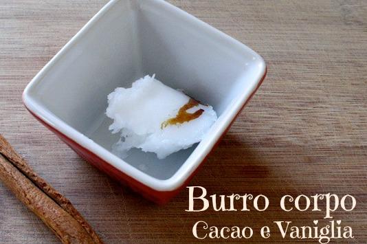 Burro corpo cacao e vaniglia