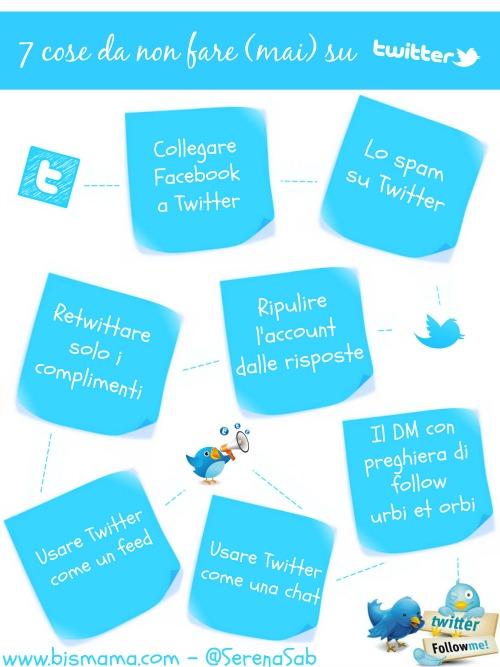 Twitter infografica le 7 cose da non fare ridotto