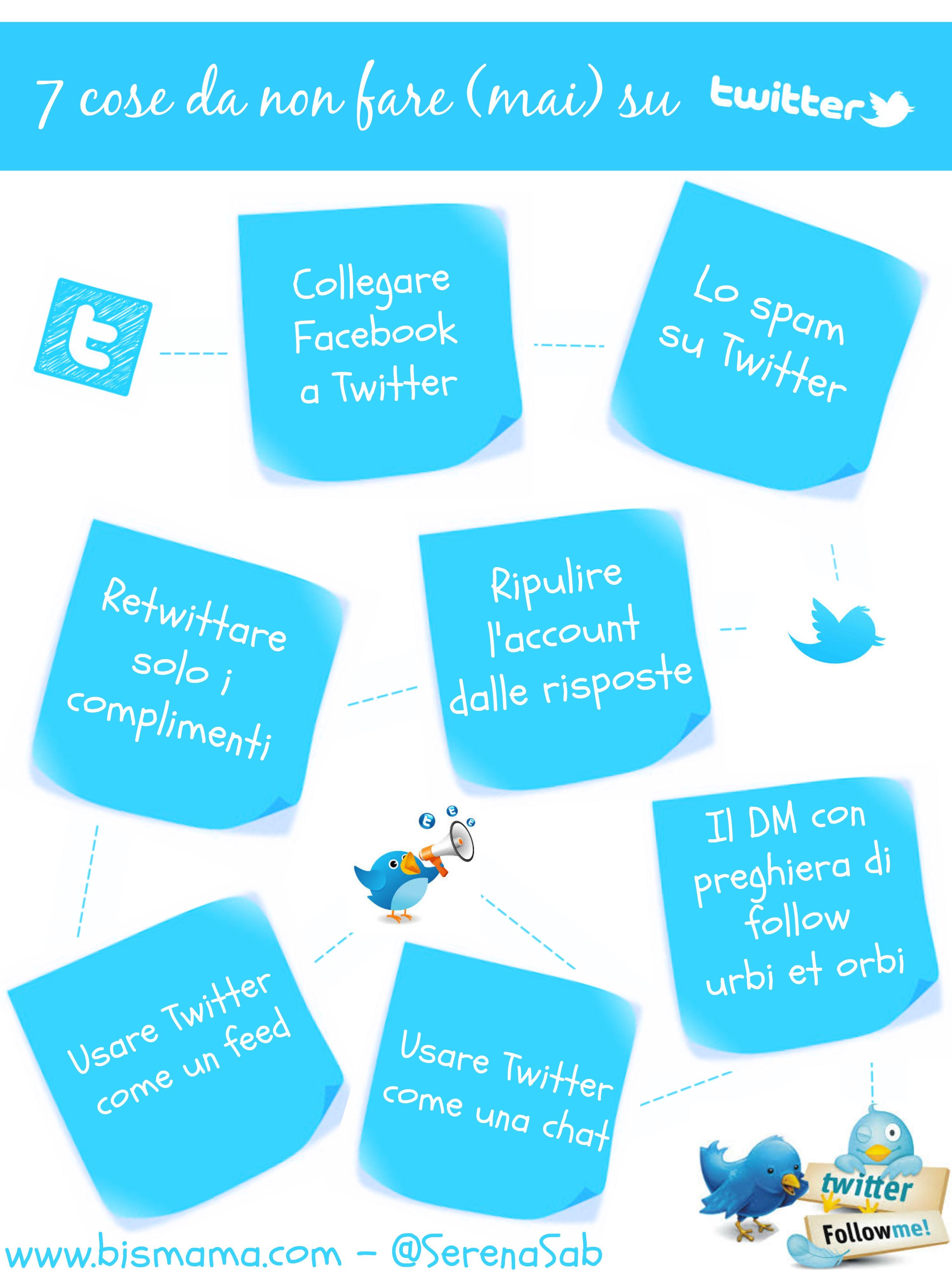 personal-branding-Twitter infografica le 7 cose da non fare