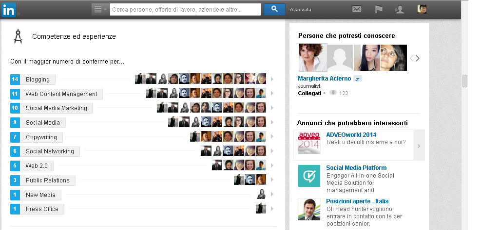 endorsement su linkedin