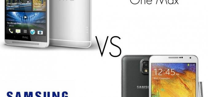 Htc One Max contro Samsung Galaxy Note 3: guerra tra phablet