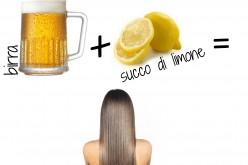 Shampoo alla birra e limone per capelli morbidi