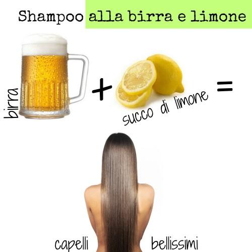 shampoo alla birra e limone