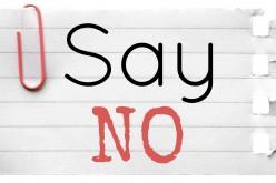 Ho imparato a dire di no. Forse.