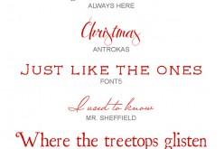 I miei font preferiti: Christmas edition