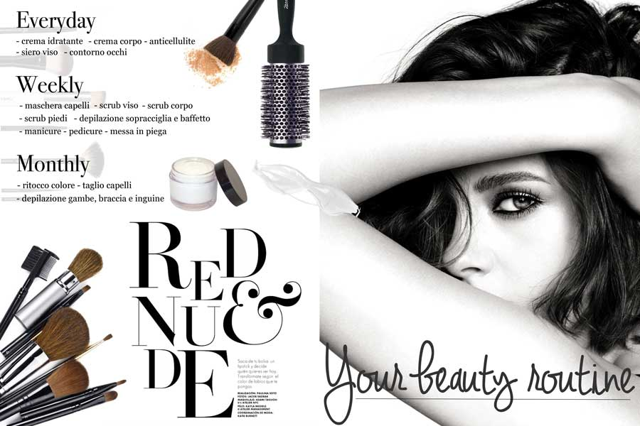 beauty routine mensile