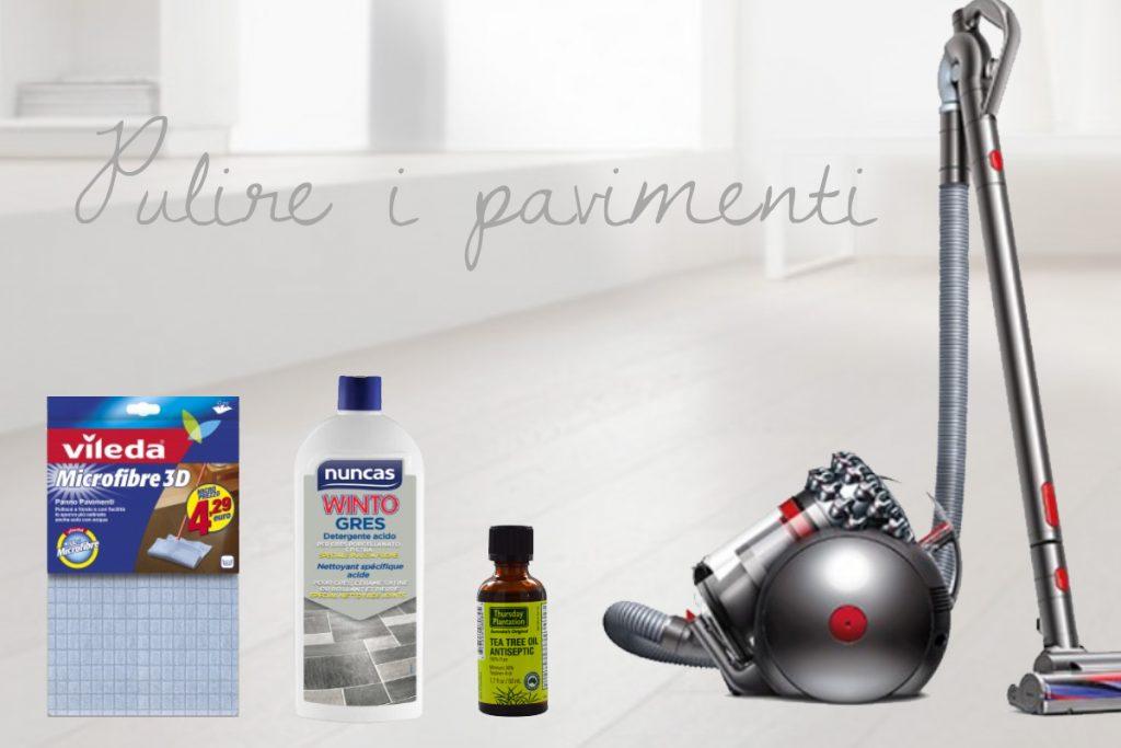 Pulizie domestiche pulire i pavimenti