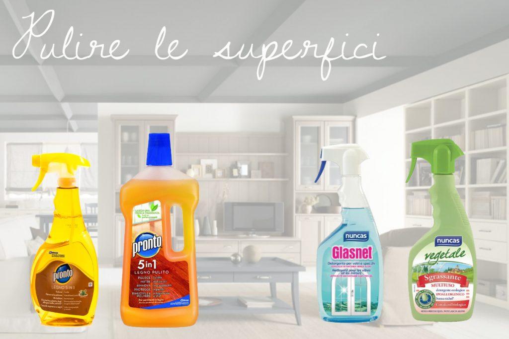 Pulizie domestiche pulire le superfici