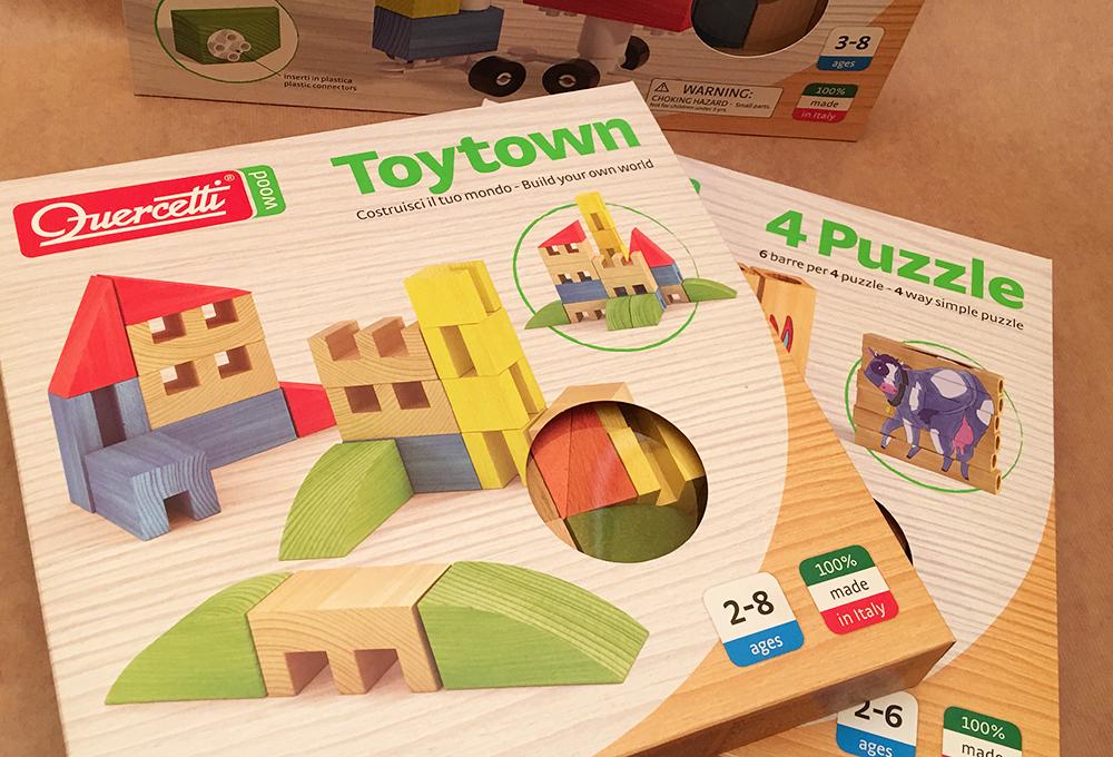 Quercetti Wood: la nuova linea di giocattoli in legno