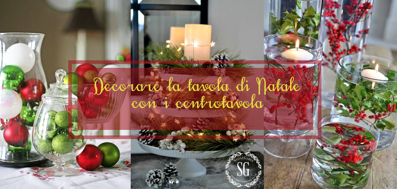 Decorare la tavola di Natale