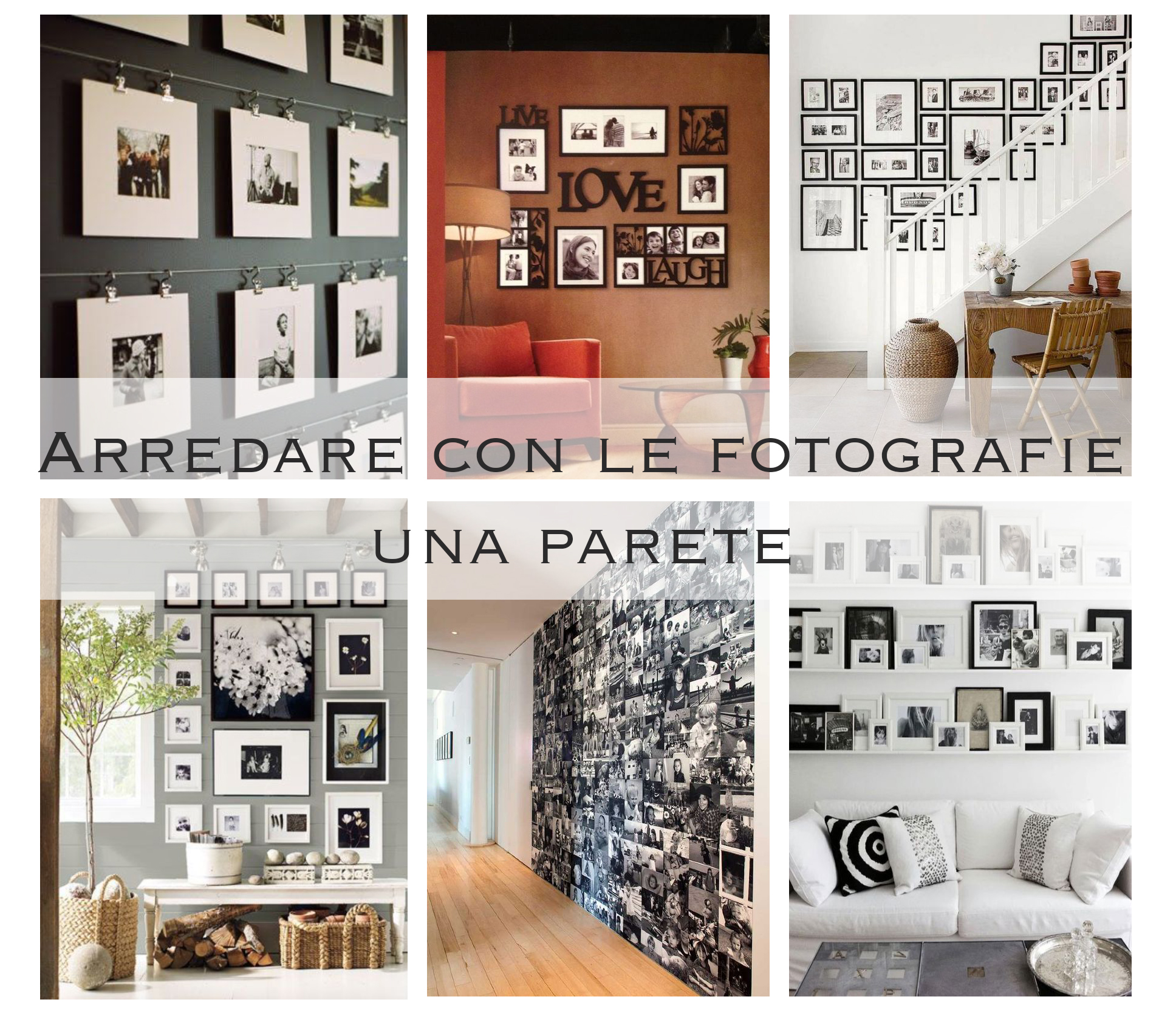 Come arredare con le fotografie una parete bismama for Arredare parete