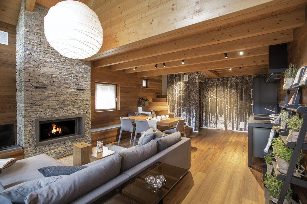 Costruire una baita in legno in autunno