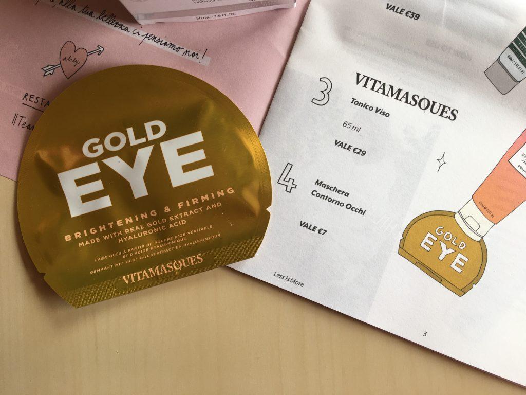 Gold Eye Pad Vitamasques